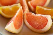 Freshly prepared oranges served for breakfast, Turkey