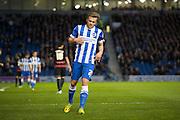 Brighton striker (on loan from Manchester United), James Wilson (21) goes close during the Sky Bet Championship match between Brighton and Hove Albion and Queens Park Rangers at the American Express Community Stadium, Brighton and Hove, England on 19 April 2016. Photo by Phil Duncan.