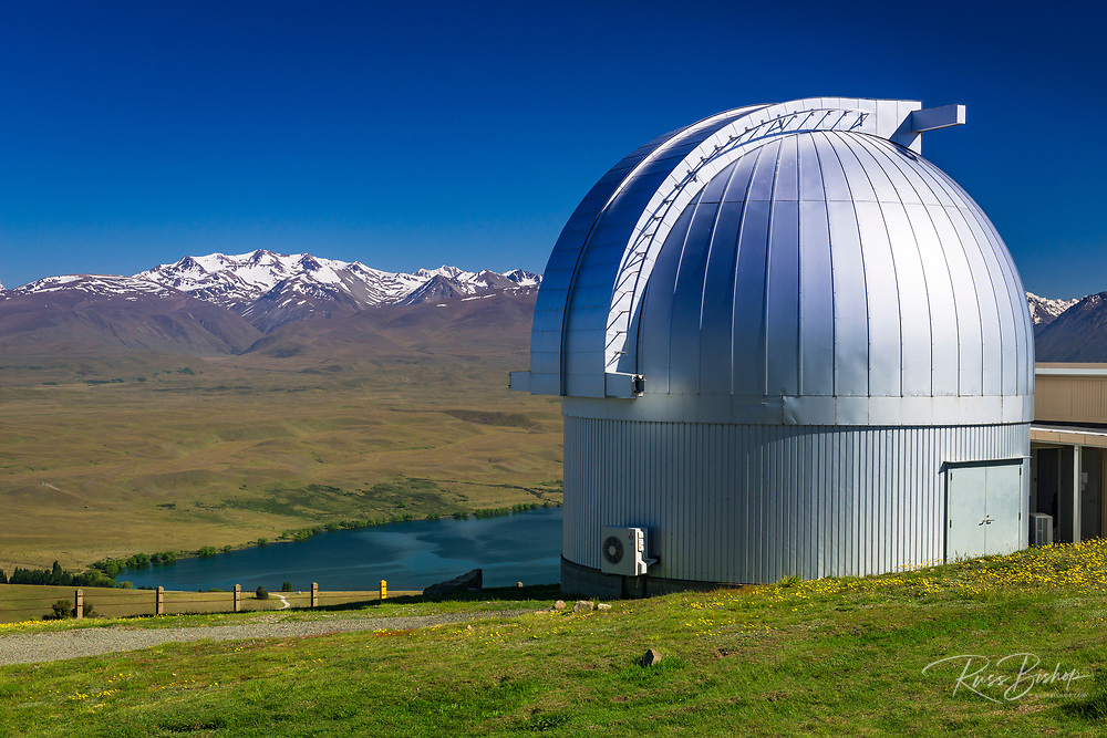 Lake Alexandrina and the Southern Alps from the Mt. John Observatory, Tekapo, Canterbury, South Island, New Zealand