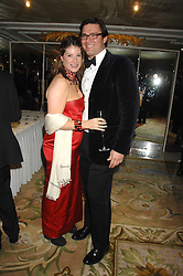 The HON.SELINA TOLLEMACHE and ANDREW WESSELS at the Chain of Hope Ball held at The Dorchester, Park Lane, London on 4th February 2008.<br />