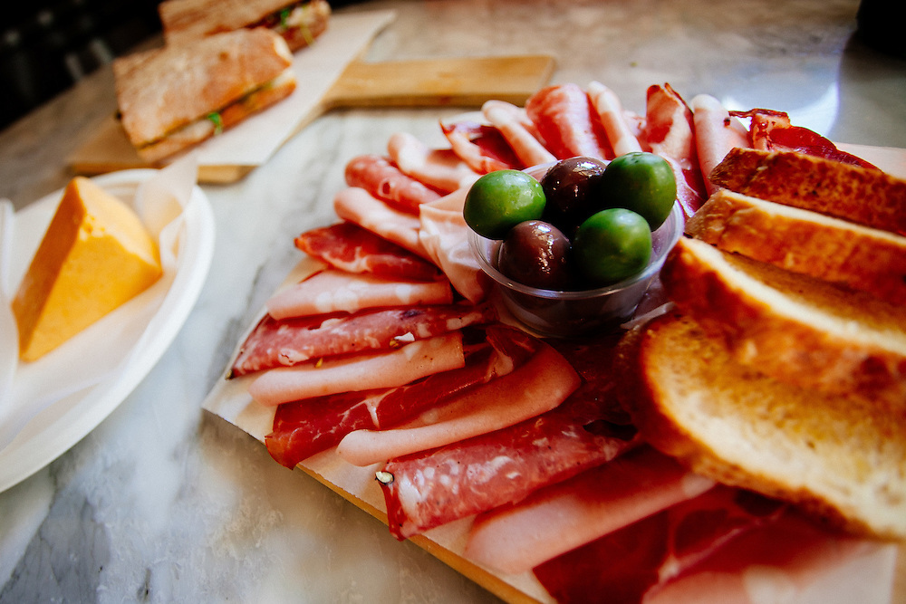 A charcuterie platter prepared by Maria Belmonte.