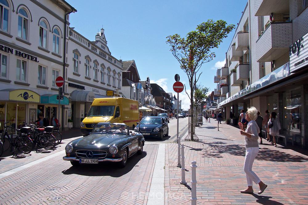 Sylt, Germany. Westerland. Mercedes 190SL.