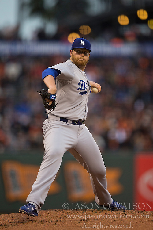 SAN FRANCISCO, CA - MAY 20:  Brett Anderson #35 of the Los Angeles Dodgers pitches against the San Francisco Giants during the first inning at AT&T Park on May 20, 2015 in San Francisco, California.  The San Francisco Giants defeated the Los Angeles Dodgers 4-0. (Photo by Jason O. Watson/Getty Images) *** Local Caption *** Brett Anderson