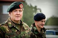 2-10-2018  ZOUTKAMP - King WIllem Alexander is making a working visit to the Lodewijk van Nassau Barracks in Zoutkamp. ROBIN UTRECHT