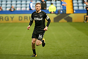 Leeds United midfielder Eunan O'Kane (14) warming up  during the EFL Sky Bet Championship match between Sheffield Wednesday and Leeds United at Hillsborough, Sheffield, England on 1 October 2017. Photo by Simon Davies.