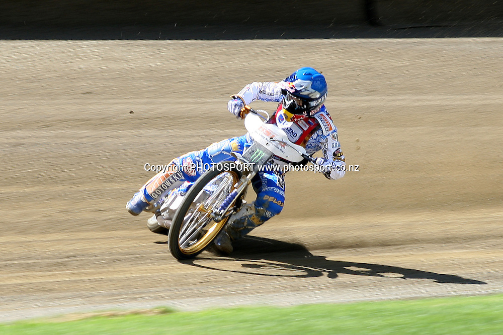Emil Sayfutdinov (Russia) in action during practice session of the 2012 FIM New Zealand Speedway Grand Prix, Western Springs, Auckland, New Zealand. Thursday 29th March 2012. Photo: Wayne Drought / photosport.co.nz