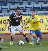 Greenock Morton's Peter MacDonald and Dundee's Declan Gallagher - Dundee v Greenock Morton, William Hill Scottish Cup 5th Round at Dens Park .. - © David Young - www.davidyoungphoto.co.uk - email: davidyoungphoto@gmail.com
