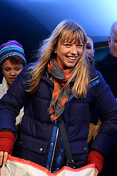 Pictured is Sara Cox. Celebrities brave the cold and sleep under the stars at Exchange Square in aid the homeless charity Centrepoint's event 'Sleep Out'. Thursday, 7th November 2013. Picture by Ben Stevens / i-Images