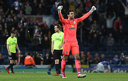 David Raya of Blackburn Rovers celebrates victory at full-time - Mandatory by-line: Joe Dent/JMP - 19/04/2018 - FOOTBALL - Ewood Park - Blackburn, England - Blackburn Rovers v Peterborough United - Sky Bet League One