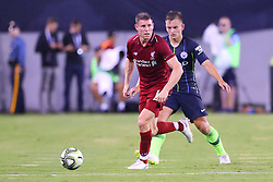 July 25, 2018 - East Rutherford, NJ, U.S. - EAST RUTHERFORD, NJ - JULY 25:  Liverpool midfielder James Milner (7) during the first half of the International Champions Cup Soccer game between Liverpool and Manchester City on July 25, 2018 at Met Life Stadium in East Rutherford, NJ.  (Photo by Rich Graessle/Icon Sportswire) (Credit Image: © Rich Graessle/Icon SMI via ZUMA Press)