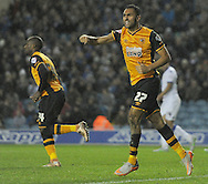 Ahmed Elmohamady of Hull City celebrates his goal against Leeds United during the Sky Bet Championship match at Elland Road, Leeds<br /> Picture by Graham Crowther/Focus Images Ltd +44 7763 140036<br /> 05/12/2015