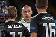 Scott Brown(#8) of Celtic FC before the UEFA Europa League group stage match between Celtic FC and Rosenborg BK at Celtic Park, Glasgow, Scotland on 20 September 2018.