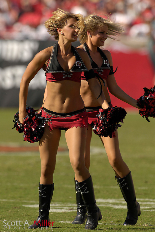 Oct. 15, 2006; Tampa, FL, USA; Tampa Bay Buccaneers cheerlead during the Bucs game against the Cincinnati Bengals s at Raymond James Stadium. ...©2006 Scott A. Miller