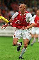 Fotball. Treningskamp 17.07.2002.<br /> Arsenal v Stevenage.<br /> Pascal Cygan, Arsenal.<br /> Foto: Andrew Cowie, Digitalsport