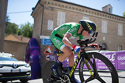 Annemiek van Vleuten (NED) of Orica Scott Cycling Team digs deep at the top of the final climb of Stage 5 of the Giro Rosa - a 12.7 km individual time trial, starting and finishing in Sant'Elpido A Mare on July 4, 2017, in Fermo, Italy. (Photo by Balint Hamvas/Velofocus.com)
