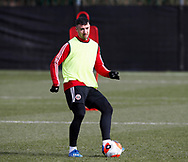 Enda Stevens of Sheffield Utd  during a training session at the Steelphalt Academy, Sheffield. Picture date: 5th March 2020. Picture credit should read: Simon Bellis/Sportimage