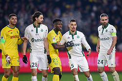 January 30, 2019 - Nantes, France - Neven Subotic ( Saint Etienne ) - KWATENG Enock ( Nantes )  - KOLODZIEJCZAK Timothee ( Saint Etienne ) - Loic Perrin  (Credit Image: © Panoramic via ZUMA Press)