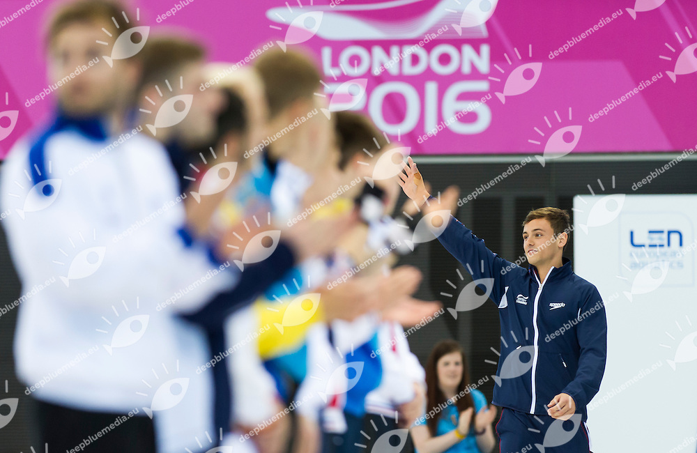 DALEY Tom GBR gold medal<br /> London, Queen Elizabeth II Olympic Park Pool <br /> LEN 2016 European Aquatics Elite Championships <br /> Diving<br /> Men's 10m platform final <br /> Day 07 15-05-2016<br /> Photo Giorgio Perottino/Deepbluemedia/Insidefoto
