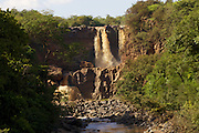 A waterfall in Ethiopia.