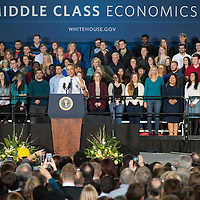 President Obama's remarks, Boise State University, 21 January 2015, Photo Patrick Sweeney