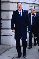 David Cameron beim Remembrance Sunday in London / 131116 *** Remembrance Sunday, London, 13 Nov 2016 ***