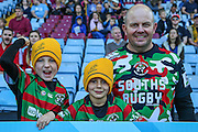 Australian ruby supporters before the Rugby World Cup Pool A match between Australia and Uruguay at Villa Park, Birmingham, England on 27 September 2015. Photo by Shane Healey.