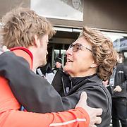 NLD/Biddinghuizen//20170305 - De Hollandse 100 - Stichting Lymph & Co 2017, Prinses Margriet begroet haar zoon Pieter Christiaan