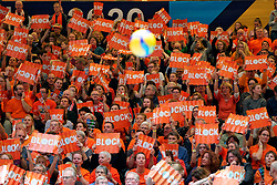 10–01-2020 NED: Olympic qualification tournament women Netherlands - Poland, Apeldoorn<br /> The Dutch volleyball players lost the third group match of the OKT in Apeldoorn 3-1 against Poland / Orange support, spectators