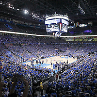 12 June 2012: General view of the arena during the Oklahoma City Thunder 105-94 victory over the Miami Heat, in Game 1 of the 2012 NBA Finals, at the Chesapeake Energy Arena, Oklahoma City, Oklahoma, USA.