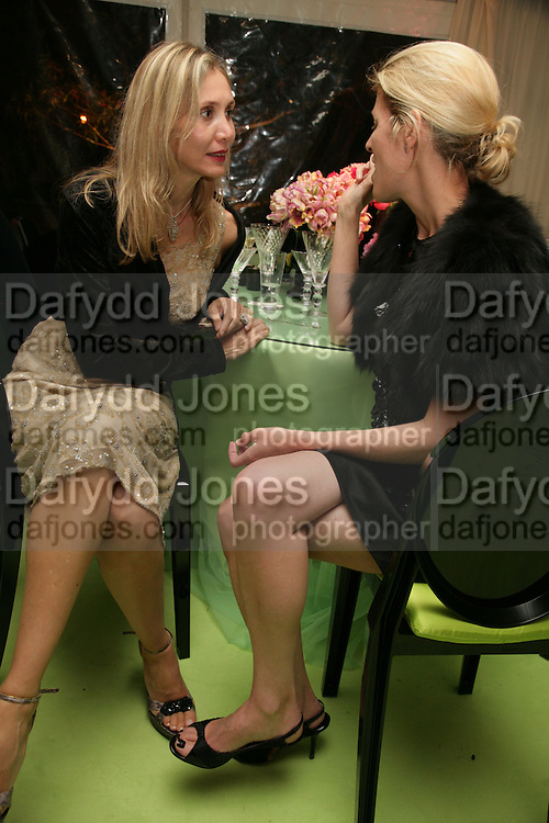 ALLEGRA HICKS AND SIDNEY FINCH, Cartier Chelsea Flower Show dinner hosted by Arnaud Bamberger. Chelsea Physic Garden. London. 21 May 2007.  -DO NOT ARCHIVE-© Copyright Photograph by Dafydd Jones. 248 Clapham Rd. London SW9 0PZ. Tel 0207 820 0771. www.dafjones.com.
