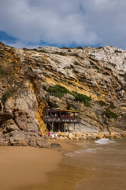 Cafe at Praia do Beliche, Sagres, Algarve, Portugal