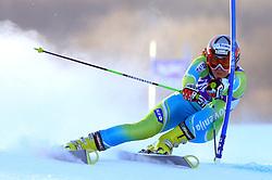 Vanja Brodnik of Slovenia skiing in first run of Maribor women giant slalom race of Audi FIS Ski World Cup 2008-09, in Maribor, Slovenia, on January 10, 2009. (Photo by Vid Ponikvar / Sportida)