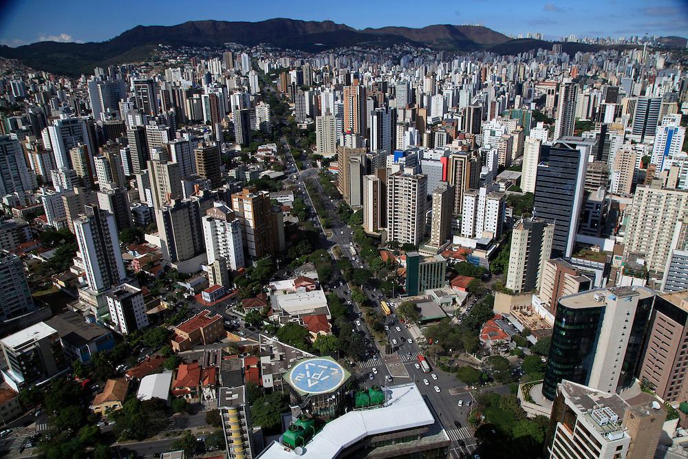 Belo Horizonte_MG, Brasil.<br /> <br /> Imagem panoramica do centro de Belo Horizonte, Minas Gerais. Detalhe para a Avenida Afonso Pena.<br /> <br /> Panoramic view of Belo Horizonte, Minas Gerais. In this photo Afonso Pena avenue.<br /> <br /> Foto: JOAO MARCOS ROSA / NITRO