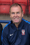 Russ Wilcox during the Pre-Season Friendly match between York City and Newcastle United at Bootham Crescent, York, England on 29 July 2015. Photo by Simon Davies.