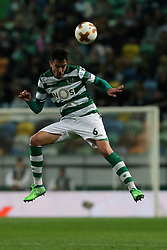 April 12, 2018 - Lisbon, Portugal - Sporting's defender Andre Pinto from Portugal in action during the UEFA Europa League second leg football match Sporting CP vs Atletico Madrid at Alvalade stadium in Lisbon, on April 12, 2018. (Credit Image: © Pedro Fiuza/NurPhoto via ZUMA Press)
