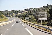 French Highway Photographed near Collioure, France
