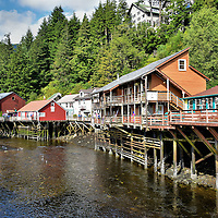 Creek Street in Ketchikan, Alaska<br />