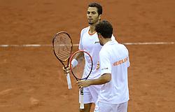 13-09-2014 NED: Davis Cup Nederland - Kroatie, Amsterdam<br /> Nederland verliest de dubbel en staat op de tweede dag met 2-1 achter / Jean-Julien Rojer