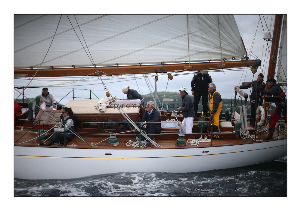The final day of racing of the Fife Regatta on the King's Course North of Great Cumbrae<br /> <br /> Latifa, 8, Mario Pirri, ITA, Bermudan Yawl, Wm Fife 3rd, 1936<br /> <br /> * The William Fife designed Yachts return to the birthplace of these historic yachts, the Scotland&rsquo;s pre-eminent yacht designer and builder for the 4th Fife Regatta on the Clyde 28th June&ndash;5th July 2013<br /> <br /> More information is available on the website: www.fiferegatta.com