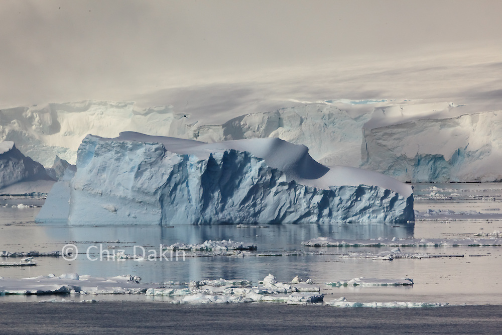 Icebergs by Peter 1 Øy (a very remote Antarctic island in the Bellingshausen Sea)