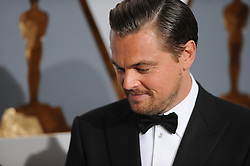 "(160228) -- LOS ANGELES, Feb. 29, 2016 () -- Leonardo DiCaprio, actor in a leading role nominee for his role in ""The Revenant"", arrives for the red carpet of the 88th Academy Awards at the Dolby Theater in Los Angeles, the United States, on Feb. 28, 2016. (Xinhua, Yang Lei) (lyi). EXPA Pictures © 2016, PhotoCredit: EXPA/ Photoshot/ Yang Lei<br />
