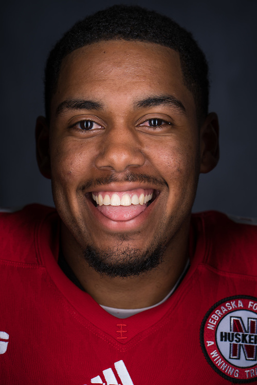 Keyan Williams #9 during a portrait session at Memorial Stadium in Lincoln, Neb. on June 7, 2017. Photo by Paul Bellinger, Hail Varsity