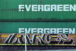 Railroad car graffiti