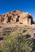 Evening light on rock formations, Red Rock Canyon State Park, Mojave Desert, California