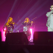 Concert de Florent pagny aux francofolies de La Rochelle 2015 avec Anne Gravoin - femme de manuel walls