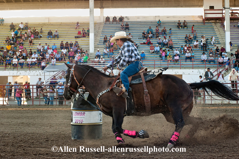 Crow Fair, Indian rodeo, Barrel Racing, Crow Indian Reservation, Montana
