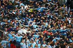 Manchester City fans in the stands