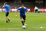 Carlisle United Defender Tom Parkes (6) warms up before kick off during the EFL Sky Bet League 2 match between Crawley Town and Carlisle United at the Checkatrade.com Stadium, Crawley, England on 30 September 2017. Photo by Andy Walter.