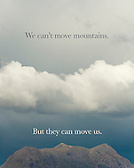 Mountains can move us poster
