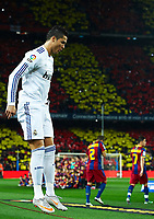 BARCELONA, SPAIN - NOVEMBER 29: Cristiano Ronaldo of Real Madrid during the La Liga match between Barcelona and Real Madrid at the Camp Nou Stadium on November 29, 2010 in Barcelona, Spain. (Photo by Manuel Queimadelos/DPPI)